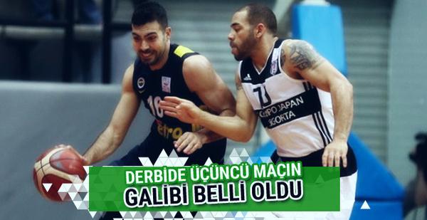 Fenerbahçe play-off 3. maçında Beşiktaş'ı yendi