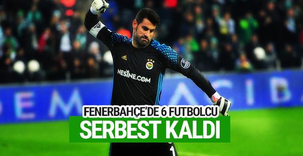 Fenerbahçe'de 6 oyuncu serbest kaldı