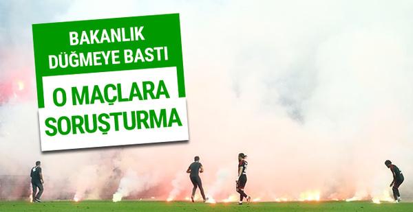 Türkiye Kupası Finali ve 1. Lig Play Off Final maçlarına soruşturma!