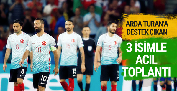 Arda Turan'a destek veren 3 futbolcu