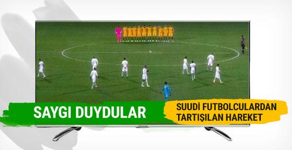 Suudi futbolculardan tartışılan hareket... Saygı duymadılar!
