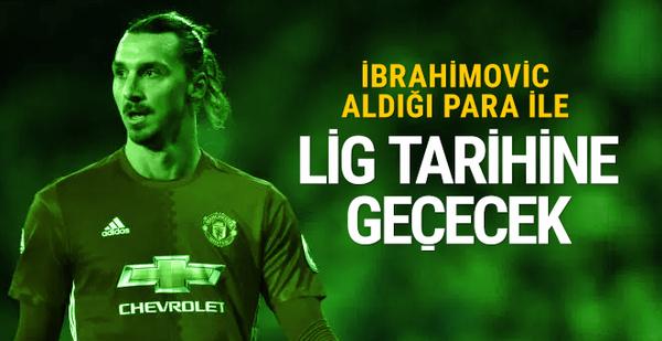 Ibrahimovic aldığı para ile lig tarihine geçecek