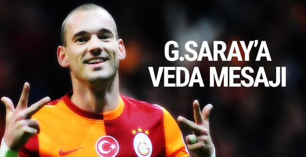 Sneijder'den Galatasaray'a veda mesajı