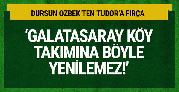 Dursun Özbek'ten Igor Tudor'a fırça!