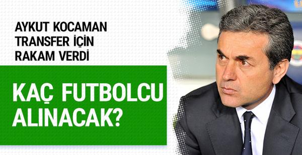 Aykut Kocaman transfer için rakam verdi