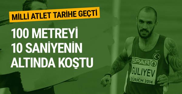 Ramil Guliyev dünya atletizm tarihine geçti