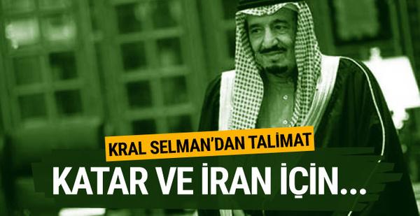 Kral Selman'dan Katar ve İran talimatı