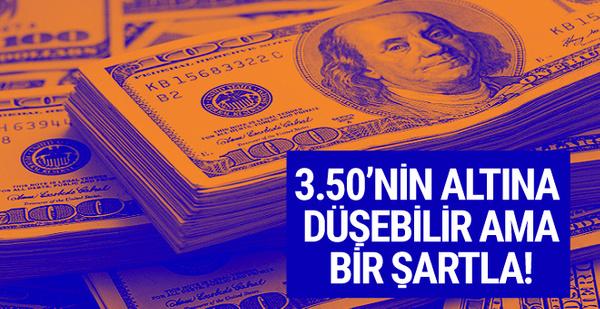 Dolar 3.50 TL'nin altına düşer ama bir şartla (Dolar bugün kaç TL)