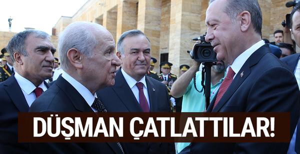 Erdoğan ve Bahçeli düşman çatlattı