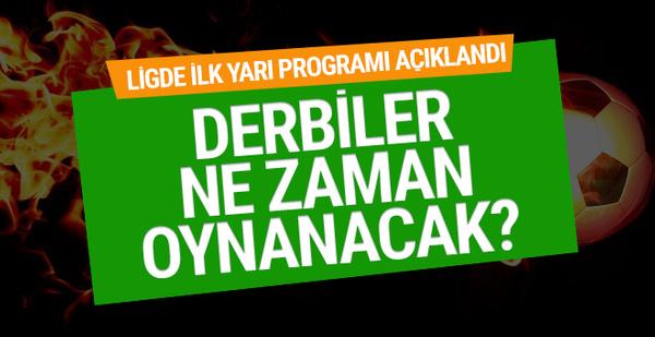 Süper Lig'de 17 haftanın fikstürü açıklandı