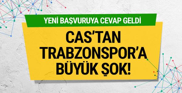 CAS'tan Trabzonspor'a kötü haber!