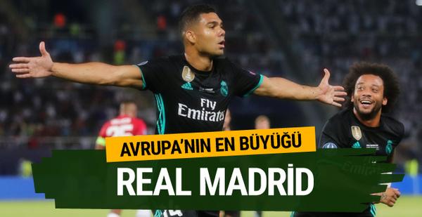Real Madrid Süper Kupa'nın sahibi oldu