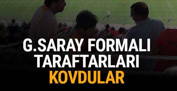 Galatasaray formalı taraftarlara tepki