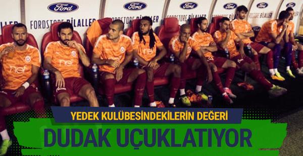 Galatasaray'ın kulübesi dudak uçuklatıyor