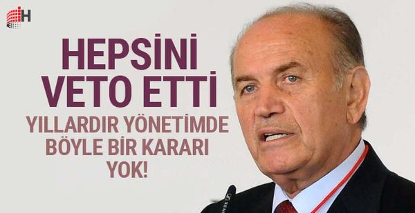 Kadir Topbaş'tan görülmemiş karar hepsini veto etti