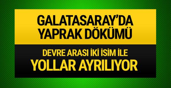 Galatasaray'da yaprak dökümü!