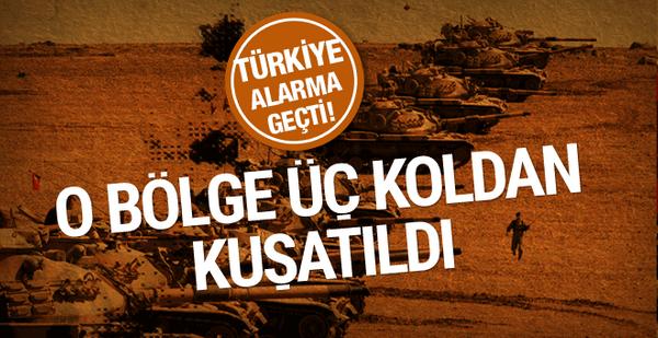 Türkiye o bölgeyi üç koldan kuşattı! Alarm verildi her an...