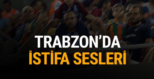Trabzonspor taraftarlarından istifa çağrısı