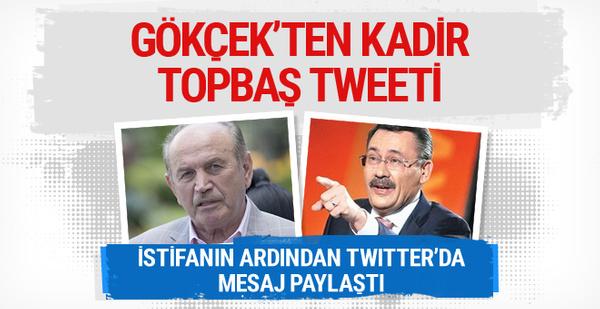 Melih Gökçek'ten Kadir Topbaş tweeti