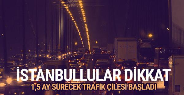 İstanbul'un trafik çilesi başladı