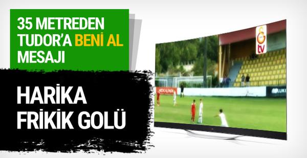 Galatasaray'ın genç yeteneğinden müthiş frikik golü