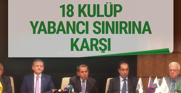 Dursun Özbek'ten yabancı kuralı açıklaması