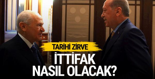 Erdoğan Beştepe'de Bahçeli ile görüştü