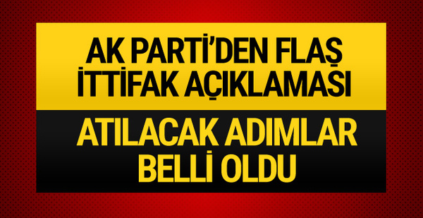 AK Parti'den MHP ittifakıyla ilgili flaş açıklama!