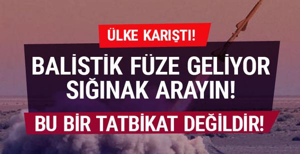 Ülkeyi şok eden balistik füze mesajı!