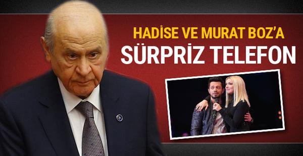 Devlet Bahçeli'den Hadise ve Murat Boz'a telefon!