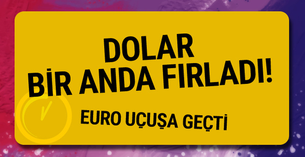 Dolar fırladı euro uçtu! 16 Ocak 2018 dolar fiyatı