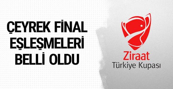 Ziraat Türkiye Kupası çeyrek final eşleşmeleri belli oldu