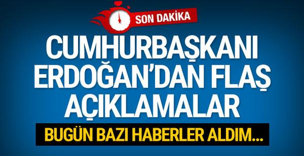 Erdoğan'dan flaş Afrin operasyonu ve HDP açıklaması