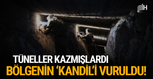 Terör örgütü tüneller kazmıştı: TSK, Parsa Dağı'nı vuruyor!
