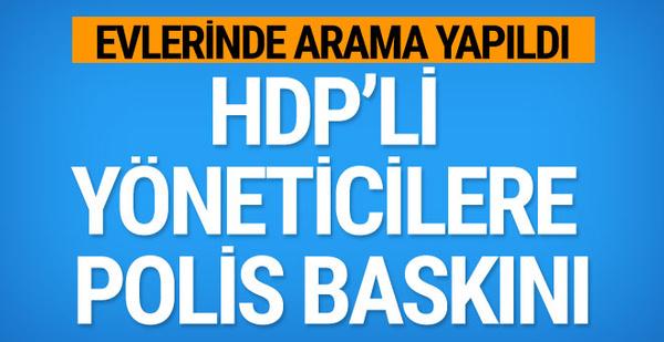 Ankara'da HDP'ye polis operasyonu!