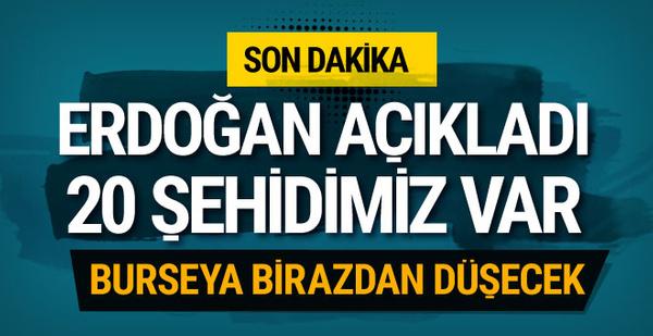 Erdoğan'dan son dakika açıklama: Burseya birazdan düşecek