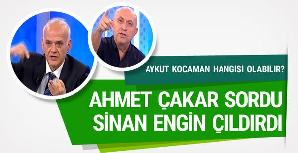Ahmet Çakar sordu Sinan Engin çıldırdı!