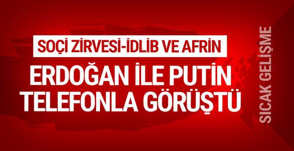 Erdoğan ile Putin'den flaş görüşme...