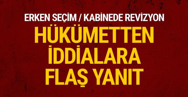 Recep Akdağ'dan erken seçim ve kabine değişikliği iddiasına yanıt!