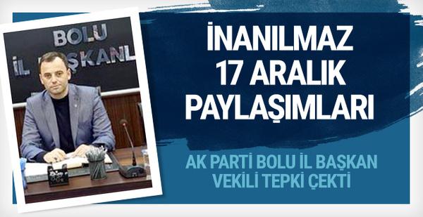 AK Parti il başkan vekilinin 17 Aralık paylaşımı tepkiye yol açtı