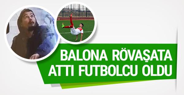 Balona röveşata attı futbolcu oldu!