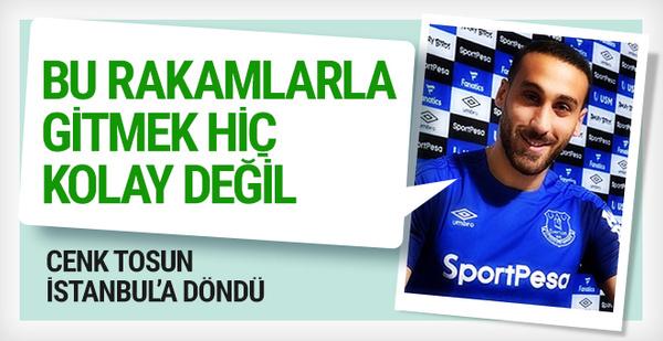 Cenk Tosun İstanbul'a döndü