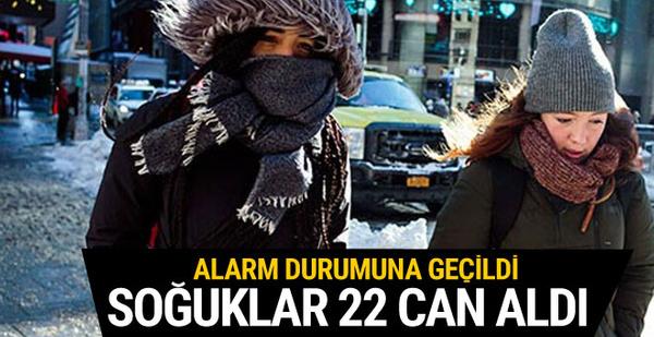 Aşırı soğuklar 22 kişinin ölümüne neden oldu
