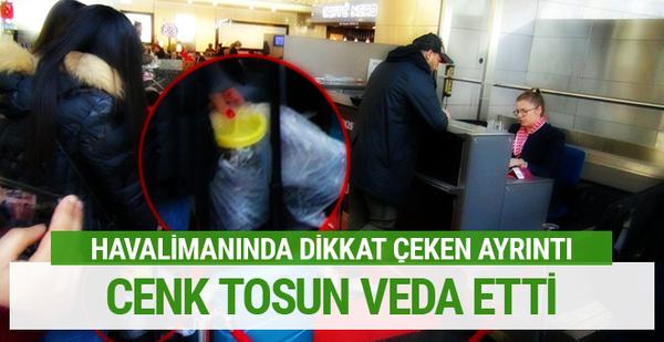 Cenk Tosun turşu bidonu ile Türkiye'ye veda etti