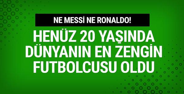 İşte  Dünyanın en zengin futbolcusu