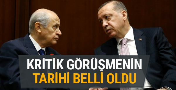 Erdoğan-Bahçeli görüşmesinin günü belli oldu!