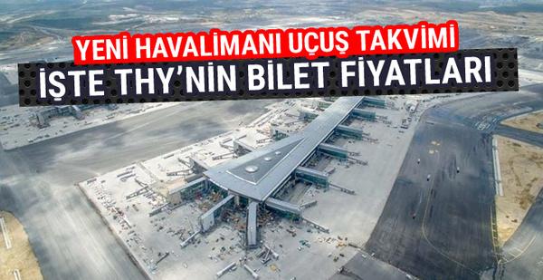 İstanbul yeni havalimanı bilet fiyatları belli oldu