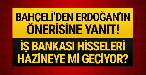 Bahçeli'den CHP'nin İş Bankası hisseleriyle ilgili flaş açıklama