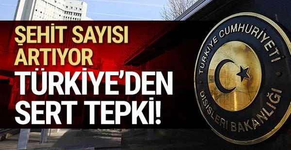 Şehit sayısı 7'ye çıktı: Türkiye'den sert tepki!