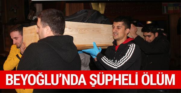Beyoğlu'nda eğlence mekanında şüpheli ölüm